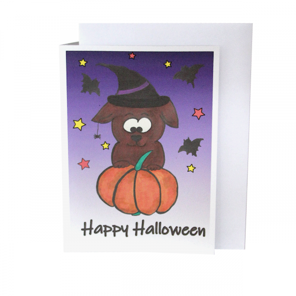 Grußkarte Halloween -Lila