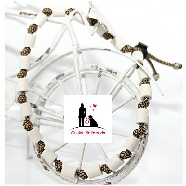 EM-Keramik Halsband Classic - Gold Diamond