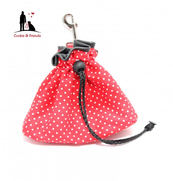 Leckerlibeutel - Polka Dots - Red