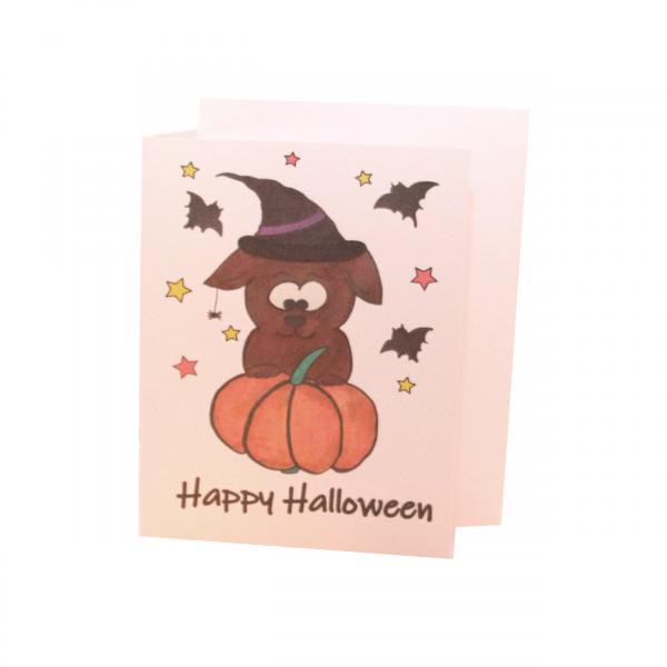 Grußkarte Halloween -Weiß