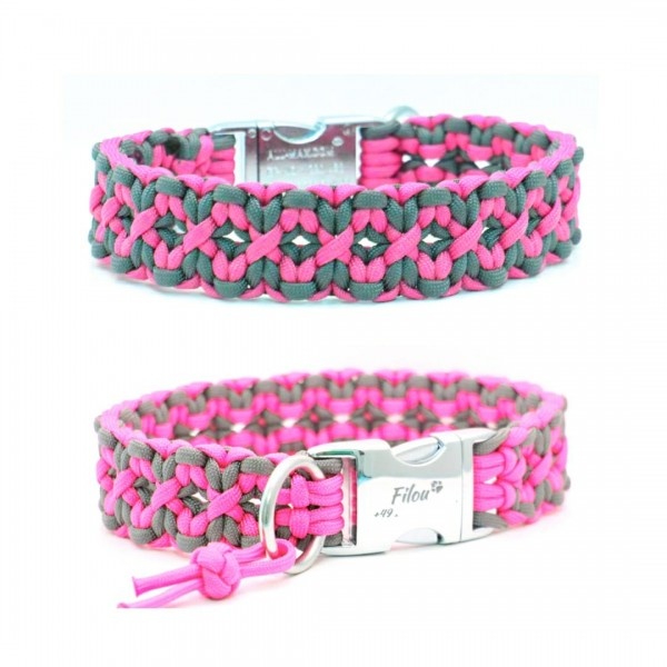 Paracord Halsband Square