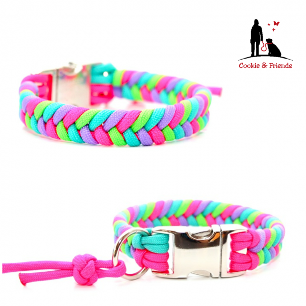 Paracord Halsband Konfetti - Farben nach Wahl