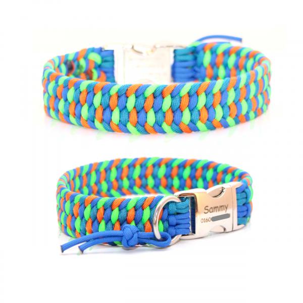 Paracord Halsband Farbrausch - Farben nach Wahl