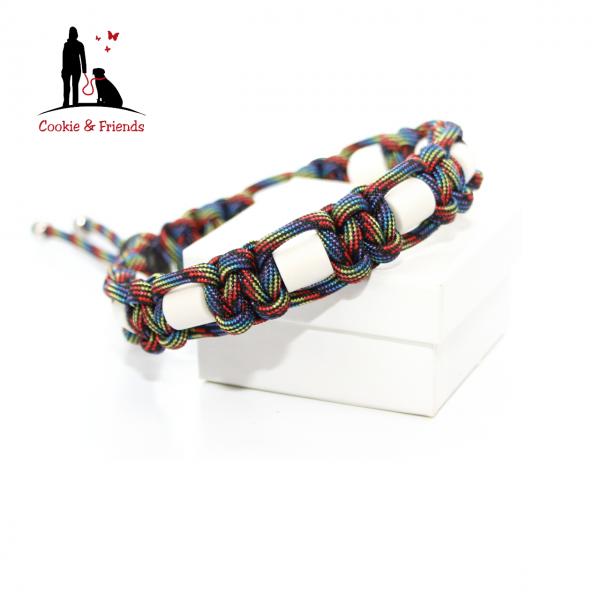 EM-Keramik Halsband Cobra - Dark Rainbow