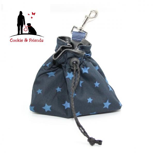 Leckerlibeutel - Stars Blue