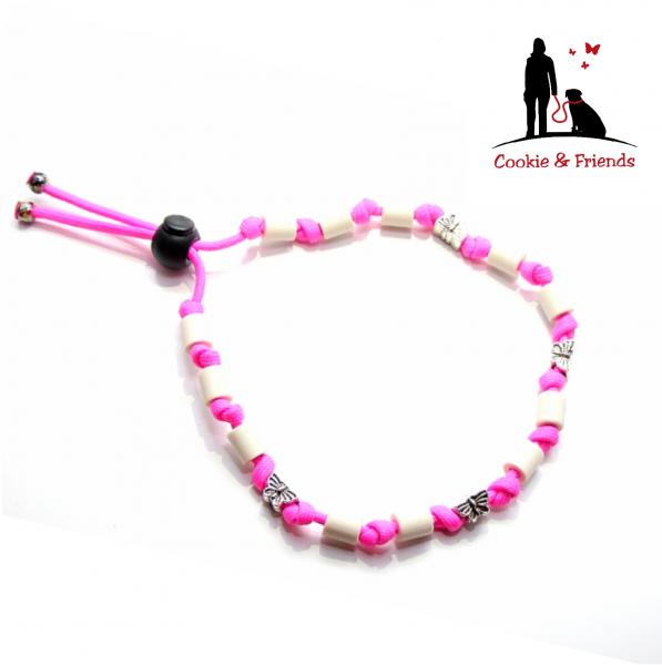 EM-Keramik Halsband Classic - Neon Pink