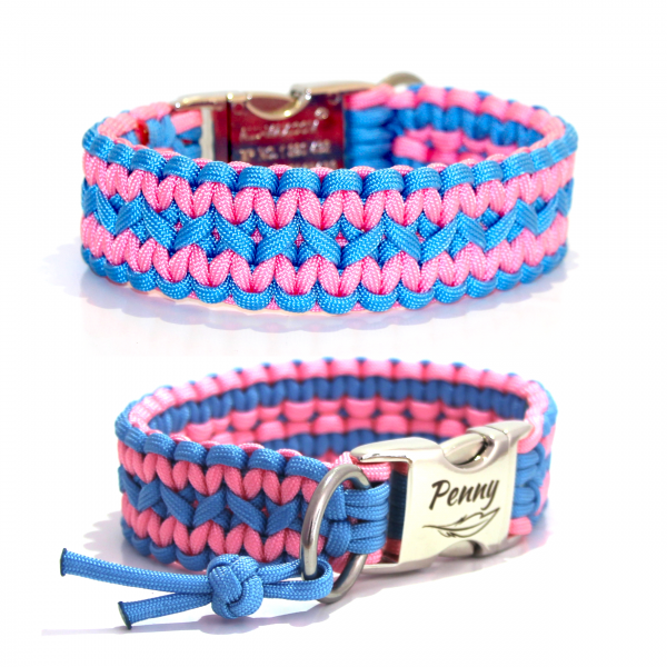 Paracord Halsband Zick Zack - Farben nach Wahl