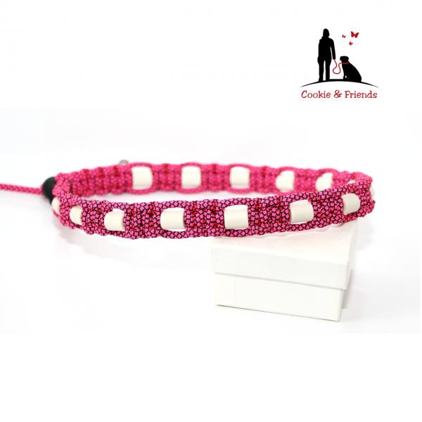 EM-Keramik Halsband Cobra - Pink Diamond