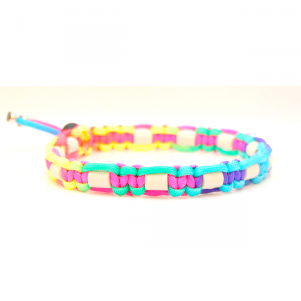 EM-Keramik Halsband Cobra - Rainbow Colors
