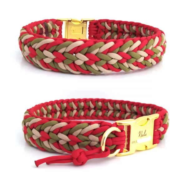 Paracord Halsband Fun - Farben nach Wahl