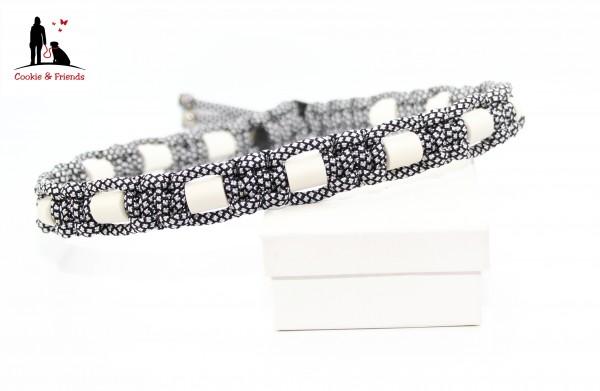 EM-Keramik Halsband Cobra - Silver Diamond