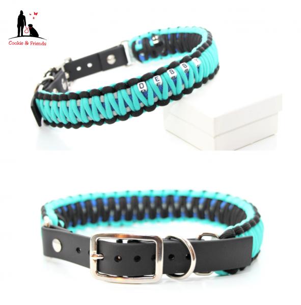 Paracord Halsband King Cobra - Farben nach Wahl