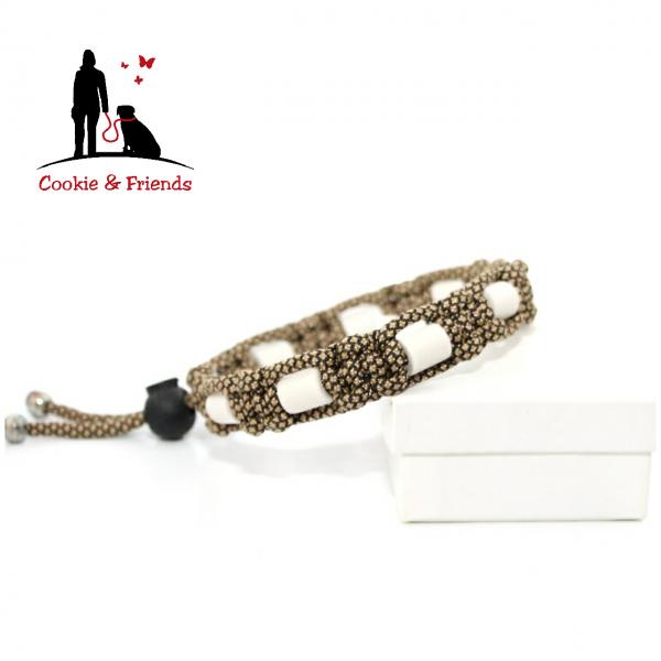 EM-Keramik Halsband Cobra - Gold Diamond